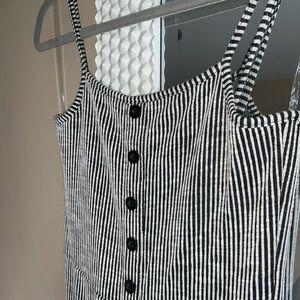 Stripe ribbed jumpsuit